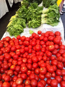 tomatoes, herbs, farmers market