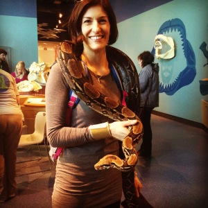 At a recent visit to Science World I encountered this boa constrictor and much to my surprise didn't want to let it go.