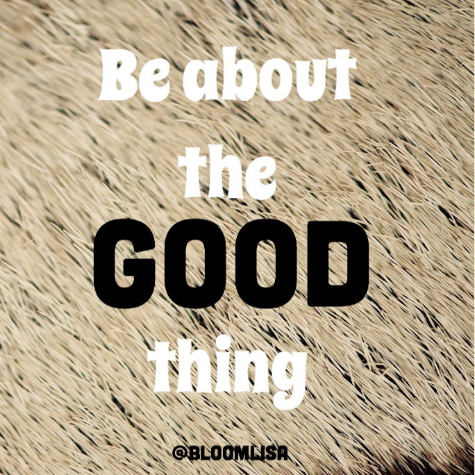 be_about_the_good_thing